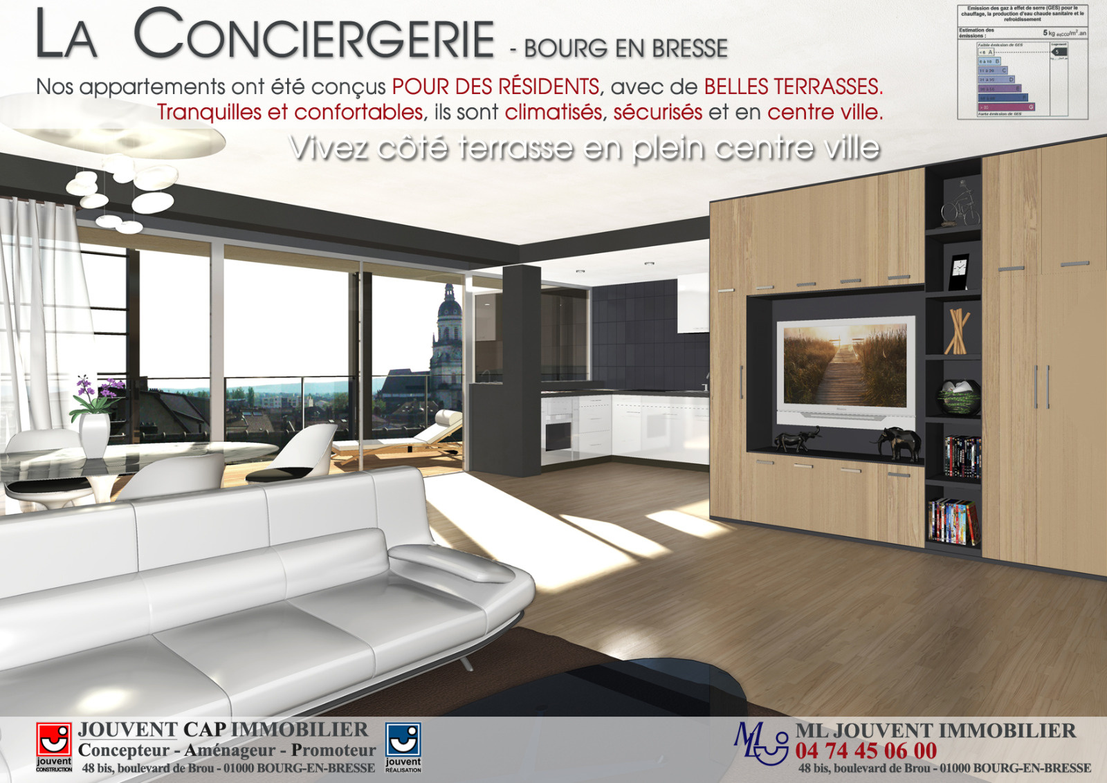 vente la conciergerie programme neuf centre ville bourg en bresse. Black Bedroom Furniture Sets. Home Design Ideas